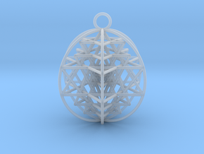 3D Sri Yantra 6 Sided Optimal in Smooth Fine Detail Plastic