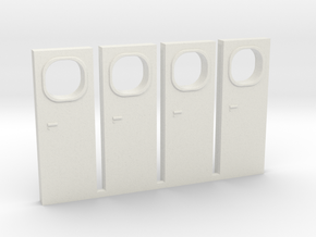 HO Metra F40PH-3 Cab Door in White Natural Versatile Plastic