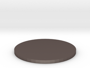 50mm Circular Miniature Base Plate in Polished Bronzed-Silver Steel