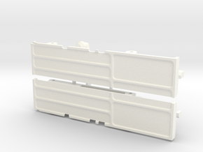 rtf203-01 TF2 Mojave Front Body Mount, Slider in White Processed Versatile Plastic