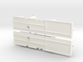 RTF203-02 TF2 Mojave Front Body Mount, Pins in White Processed Versatile Plastic
