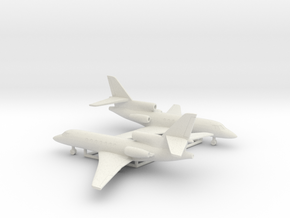 Dassault Falcon 50 in White Natural Versatile Plastic: 6mm