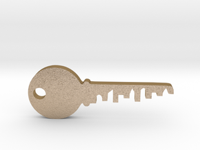 city key 4 in Polished Gold Steel