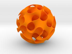 Gyroid, sphere cut in Orange Processed Versatile Plastic: Medium
