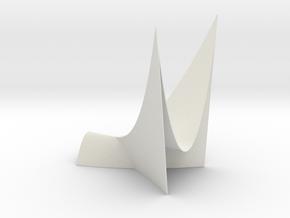 Swallowtail (a discriminant) in White Natural Versatile Plastic: Medium