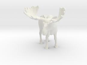 S Scale Moose in White Natural Versatile Plastic