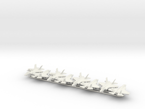 F-35B w/Gear x8 (FUD) in White Natural Versatile Plastic: 1:350