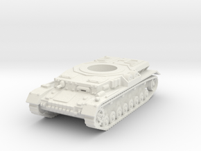 panzer IV hull scale 1/87 in White Natural Versatile Plastic