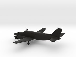 Beechcraft Model 99 Airliner in Black Natural Versatile Plastic: 1:200