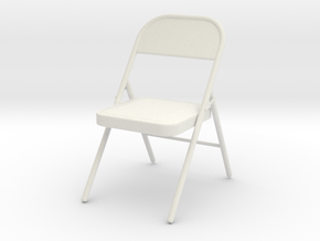 1/3rd Scale Folding Chair in White Natural Versatile Plastic