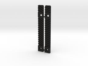 Airsoft SCAR Side Rail Delete in Black Natural Versatile Plastic