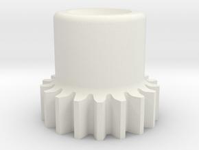 Gear, 48 Pitch, .375 Pitch Diameter in White Natural Versatile Plastic