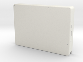 Raspberry Pi Tablet Bottom in White Natural Versatile Plastic