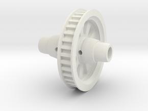 Gizmo GZ2 Offset 35T Spool in White Natural Versatile Plastic