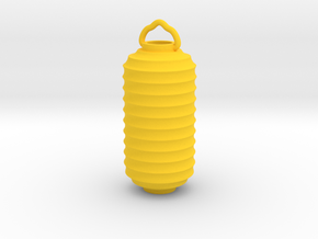 Paper Lantern Pendant, tall in Yellow Processed Versatile Plastic