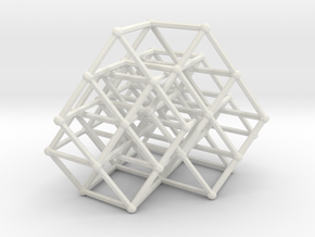Fibonacci cube of order 8 in White Natural Versatile Plastic