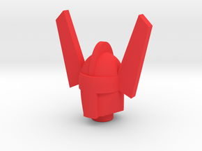 Acroyear Head for New Microman Figures in Red Processed Versatile Plastic