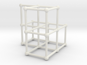 Fibonacci cube of order 6 in White Natural Versatile Plastic