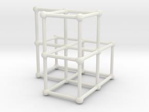 Fibonacci cube of order 6 in White Natural Versatile Plastic