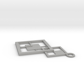 Geometrical pendant no.7 in Aluminum: Small