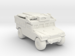 M1097a2 ADS 285 scale in White Natural Versatile Plastic