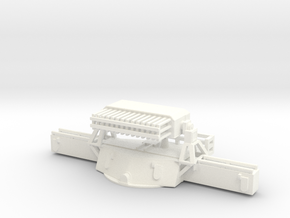 1/96 USN MK38 Gun Director Mark 8 in White Processed Versatile Plastic