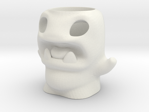 Cute Monster Tealight Candle Holder for Halloween in White Natural Versatile Plastic