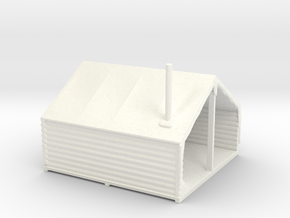 HO Scale Minner's Tent Cabin in White Processed Versatile Plastic