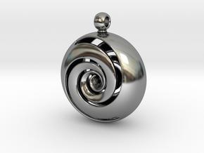 TOROIDE SWIRL in Antique Silver