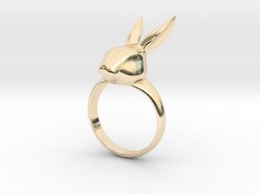 Rabbit ring in 14K Yellow Gold