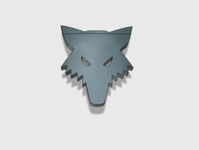 60x Wolf Head : Shoulder Insignia pack in Smooth Fine Detail Plastic