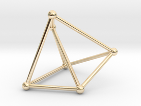 Thomsen graph in 14k Gold Plated Brass