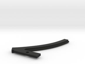 Capri Vinyl Roof Trim, Right in Black Natural Versatile Plastic