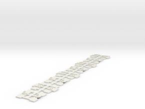"""4 Sets  Eureka 3AF Bogie Mount -  Lima 72' 6"""" Cars in White Natural Versatile Plastic"""