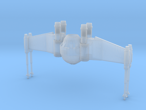 X Tie - Closed Wing  in Smooth Fine Detail Plastic