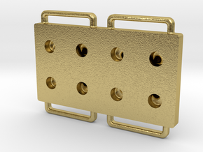 Blister Device End Cap (8 Chamber Version) in Natural Brass
