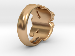 Rose Ring. in Polished Bronze: 7 / 54