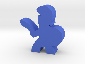 Game Piece, Greek Soldier, Sword in Blue Processed Versatile Plastic