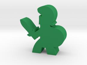 Game Piece, Trojan Soldier, Sword in Green Processed Versatile Plastic