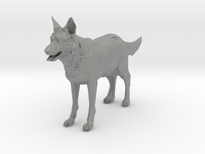 O Scale German Shepard in Gray Professional Plastic