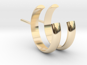 Open Stud Earrings 15mm Spess1,5mm_V DESIGN LAB in 14K Yellow Gold
