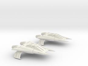 Thunder Fighter Quad in White Natural Versatile Plastic