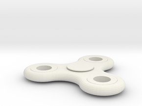 FIDGET SPINNER  in White Natural Versatile Plastic
