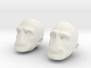 MORPHS Left Two in White Natural Versatile Plastic