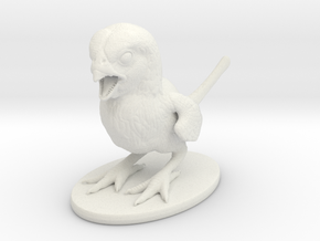 Dino Finch in White Natural Versatile Plastic