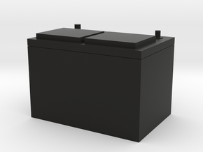 A Standard style battery in 1/10 scale in Black Natural Versatile Plastic
