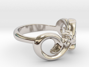 Style Ring. in Rhodium Plated Brass: 7 / 54