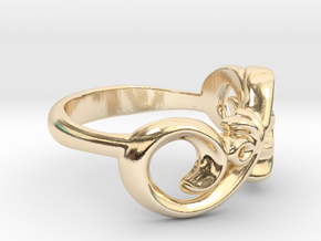 Style Ring. in 14k Gold Plated Brass: 7 / 54