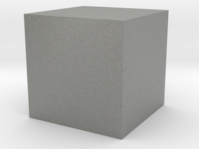 3D printed Sample Model Cube 1.95cm in Gray Professional Plastic