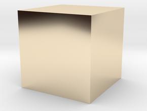 3D printed Sample Model Cube 1cm in 14K Yellow Gold